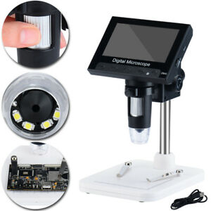 1000x Hd Lcd Monitor Electronic Digital Video Microscope Led Magnifier 4 3 Inch