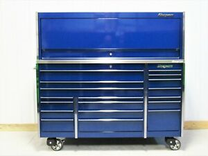 Snap On Midnight Blue Ktl1023 Tool Box Stainless Steel Work Top Hutch