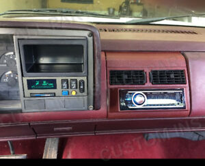 Radio Red Burgundy Single Din Dash Kit Pocket Bezel Fits Chevy Gmc Trucks 88 94