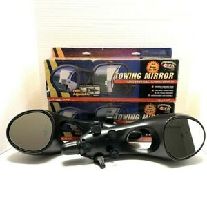 2 Universal Towing Mirrors Fully Adjustable