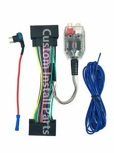 Factory Radio Amp Amplifier Interface Adapter Wiring Wire Harness Plug Fits Ford