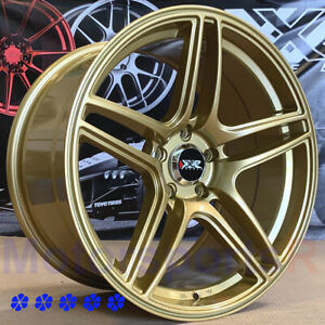 Xxr 572 Wheels 18 X8 5 9 5 25 Gold Staggered 5x4 5 94 98 99 04 Ford Mustang Gt