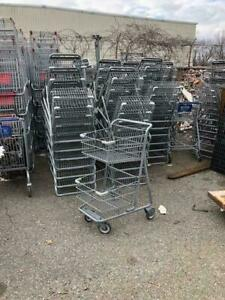 Mini Shopping Carts Double Basket Metal Small 2 Tier Buggy Used Store Fixtures