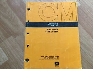 John Deere 444e Loader Factory Operators Manual Oem