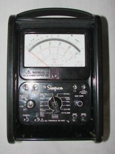 Simpson 260 8rt Electric Analog Multimeter