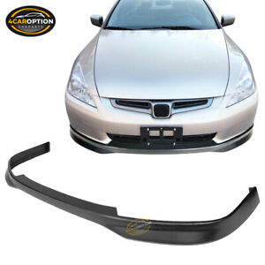 Fits 03 05 Honda Accord Sedan Type R Front Bumper Lip Pp Polypropylene