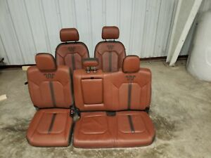 2020 Ford F550 Super Duty King Ranch Front And Rear Seats Brown Oem