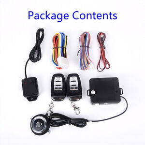 universal Car Entry Engine Start Alarm System Push Button Remote Starter Kits
