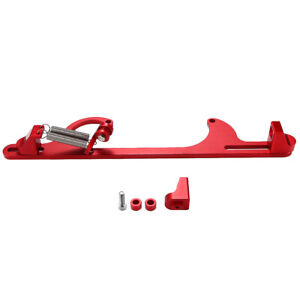 Red Aluminum Throttle Cable Carb Bracket For Holley 4150 4160 Carburetor 350