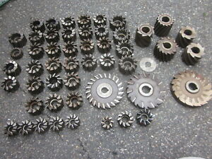 Machinist Lathe Mill Side Face Slab Shell Milling Cutter Lot X50 Morse Illinois