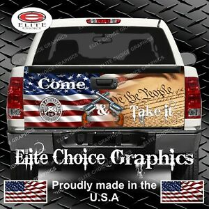 Gun Rights Truck Tailgate Wrap Vinyl Graphic Decal Wrap