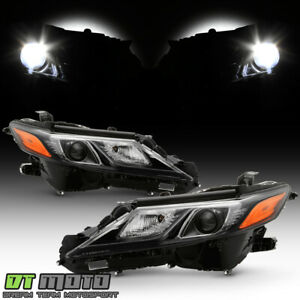 For 2018 2019 Toyota Camry Trd Models Led Projector Headlights Headlamps Pair