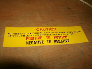 1963 1964 Ford Galaxie 500xl Fairlane Falcon Battery Caution Decal Sticker New