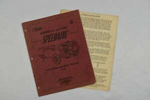 John Bean Model 12 And 12rc Speedaire Instructions And Parts Manual L 987