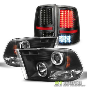 2009 2018 Dodge Ram 1500 2500 Halo Projector Headlights full Led Tail Lights Set