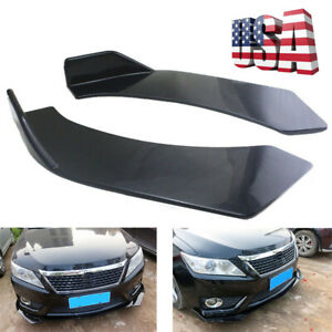 Us Shipping Car Front Bumper Splitters Diffuser Protector Gloss Black Abs Diy