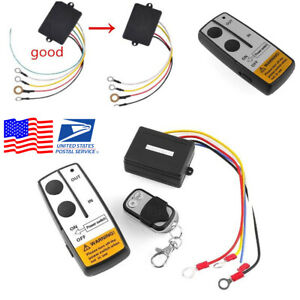 12v Long Range Wireless Remote Control Kit For Truck Jeep Car Atv Winch us Ship