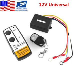 12v Universal Wireless Remote Control Kit For Car Suv Truck Atv Winch Heavy Duty