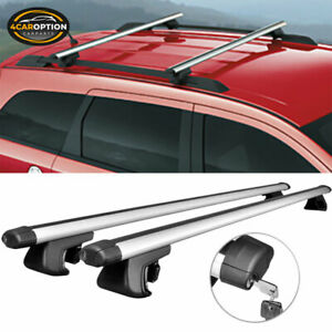48 In 120cm Adjustable Clamps Cross Bar Roof Rack Rail Carrier With Lock Key