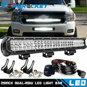 25 inch Led Work Light Bar 4 Combo Driving Offroad 4wd Ford Truck Atv Ute 24