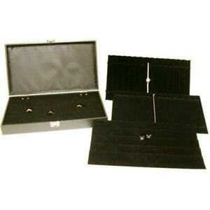 5 Earring Bracelet Ring Tray Travel Box Display Case