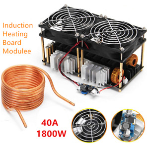 1800w Zvs Induction Heating Board Module Flyback Driver Heater W Coil 40a Us