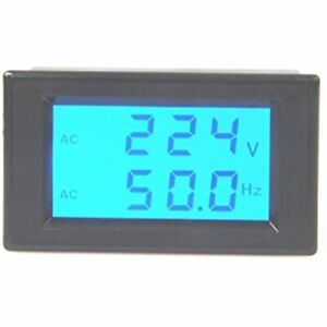 Digital Ac Voltmeter Ac80 300v Frequency Counter 45 0 65 0hz Lcd Display Voltage