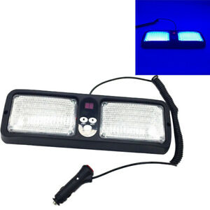 Blue 86led Sun Shield Emergency Hazard Visor Windshield Strobe Car Warning Light