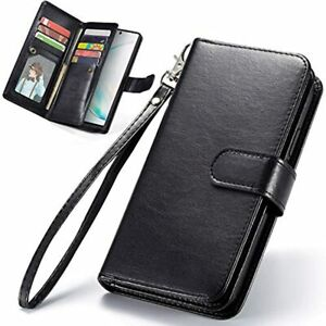 Galaxy Note 10 Case Wallet 2 In Magnetic Detachable Pu Leather Folio Flip Card