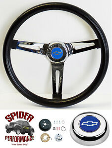 1955 1956 Bel Air 210 150 Steering Wheel Blue Bowtie 13 1 2 Muscle Car