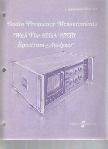 Hp Application Note 134 Audio Frequency Measurements 8556a 8552b Spectrum Analyz