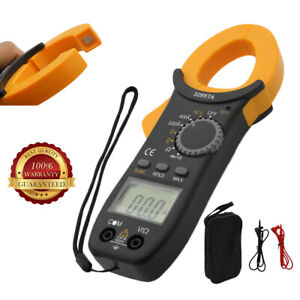 Digital Clamp On Meter Multimeter Ac Dc Voltmeter Auto Range Volt Ohm Amp Tester