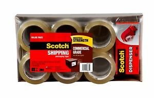 Scotch Commercial Packaging Tape 1 88 54 6 Yd 12 Rolls