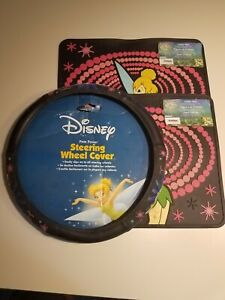 Disney Tinkerbell Steering Wheel And Floor Mats Cover Auto car