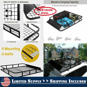 48 x40 Universal Roof Rack Basket Car Top Luggage Carrier Cargo Storage Travel