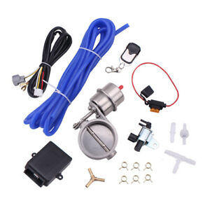 Exhaust Valve cutout 2 5 63mm Vaccum Control Set With Vacuum Pump With Wireless