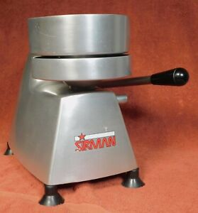 Sirman Stainless Steel 6 Burger Press used Heavy Duty Table Top Commercial