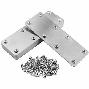 10 Pack Flat Mending Plate 201 Stainless Steel Straight Brace Inches Joining 8