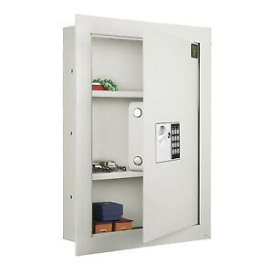 In Wall Safe Box Hidden Mounted Electronic Gun Digital Security Money Small New