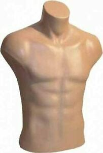 Male Torso Dress Form Mannequin Display Bust Nude 5027