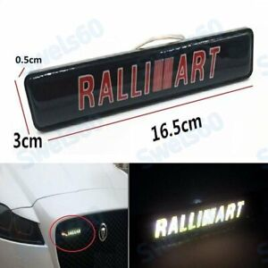 Led Front Grille Badge Illuminated Decal Sticker For Mitsubishi Ralliart Light