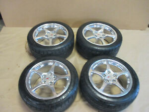 00 04 Corvette C5 Qf5 Wheels Tires Set Of 4 W Tires 0310 2