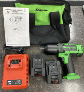 Snap On 18 Volt 1 2 Drive Green Monster Cordless Impact Wrench Free Shipping