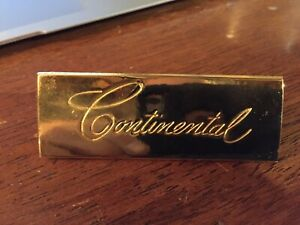 1956 1957 Lincoln Mark 11 Carpet Nameplates Look Rare Unused