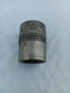 Snap On Vintage 1 2 Drive 3 4 Shallow 6 Point Socket Date Code O
