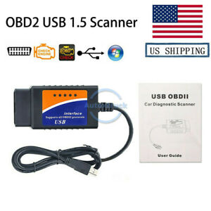 Obd2 Repair Tools Usb V1 5 Auto Cable Can Bus Code Reader Scanner Pc Connection