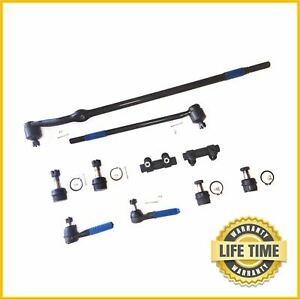 10x Front Suspension Kit Center Link Tie Rod For 1980 96 Ford F 150 Bronco 4wd