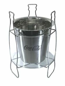 COCA COLA Stainless Steel Ice Bucket with Stand