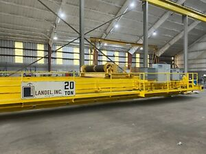 Landel 20 Ton Overhead Bridge Crane Double Girder Can Be Run In Place