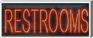 Outdoor Restrooms Neon Sign Outdoor Jantec 37 X 15 Bar Public Restroom
